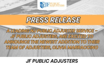 A LEADING NJ PUBLIC ADJUSTER SERVICE – JF PUBLIC ADJUSTERS, ARE EXCITED TO ANNOUNCE THE NEWEST ADDITION TO THEIR TEAM OF ADJUSTERS, OLIVIA MARRACCINO